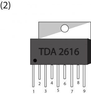 TDA2616 PIN OUT-Amader Electronics-আমাদের ইলেকট্রনিক্স-এম্পলিফায়ার আইসি